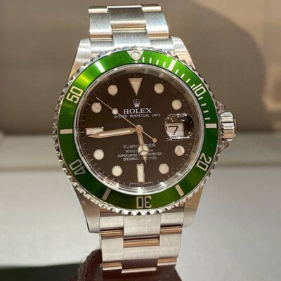 ROLEX SUBMARINER GREEN BEZEL 16610LV: 50th anniversary